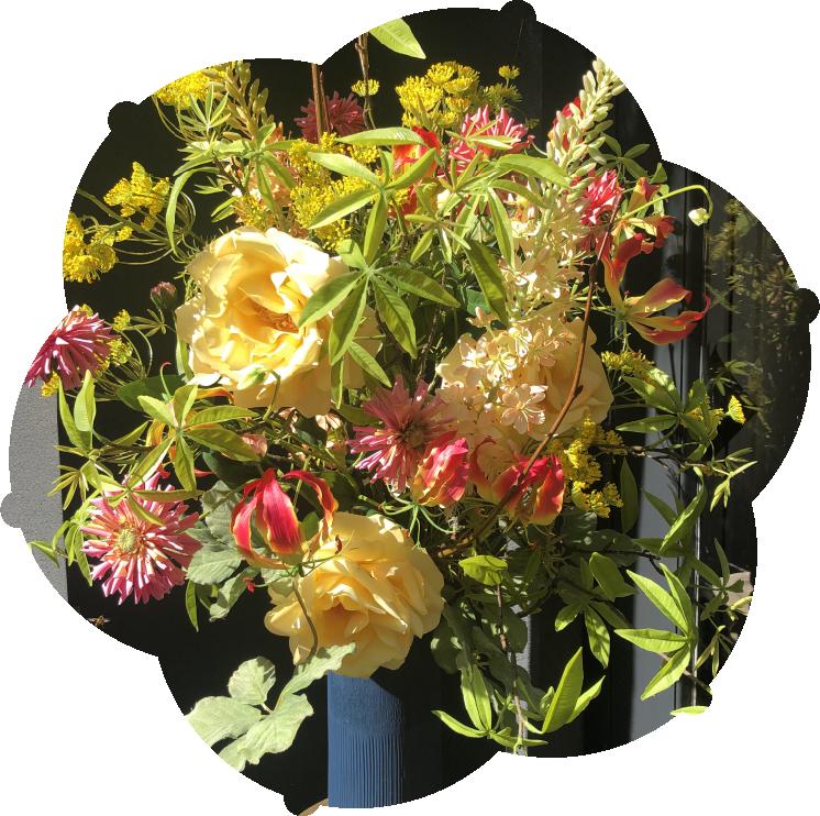 Zijden bloemen van Moos Natuurlijk